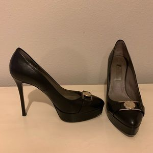Versace Collection Black leather heels